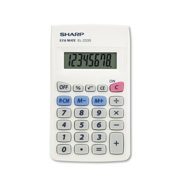 Sharp Calculators Sharp EL233SB 8-Digit Pocket Calculator