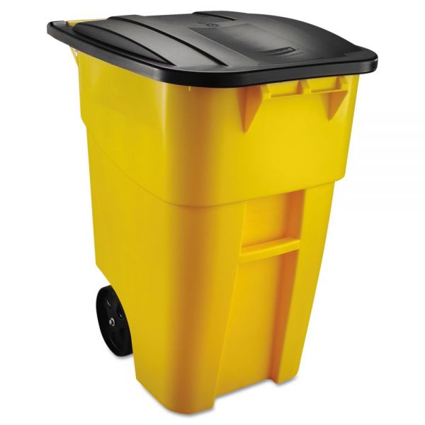 Rubbermaid Brute Multipurpose Rollout 50 Gallon Trash Can With Lid