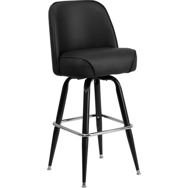 Flash Furniture Barstool with Swivel Bucket Seat