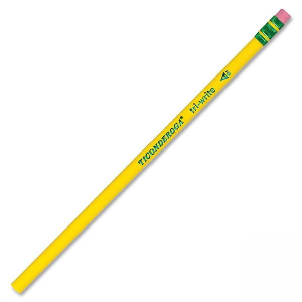 Ticonderoga Tri-Write #2 Wood Pencils