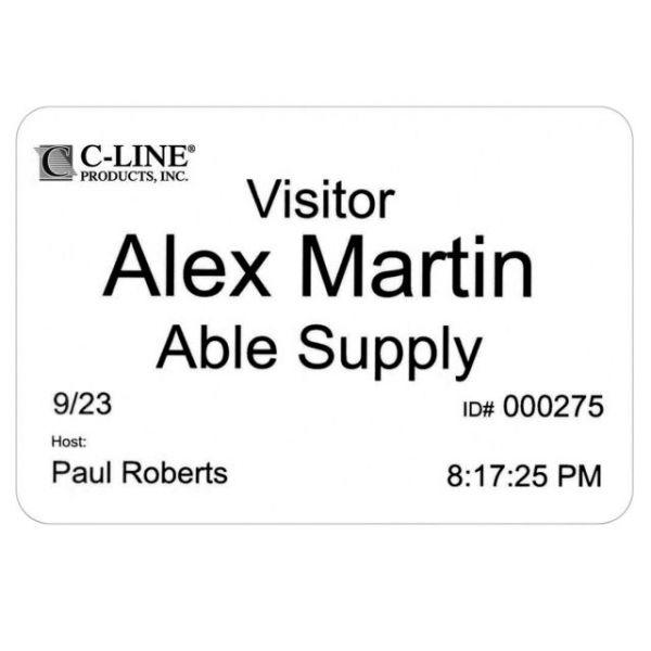 C-Line Badges for Direct Thermal Printers