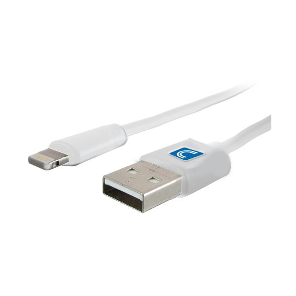 Comprehensive Lightning Male to USB A Male Cable White 3ft