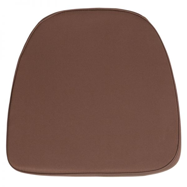 Flash Furniture Soft Brown Fabric Chiavari Chair Cushion