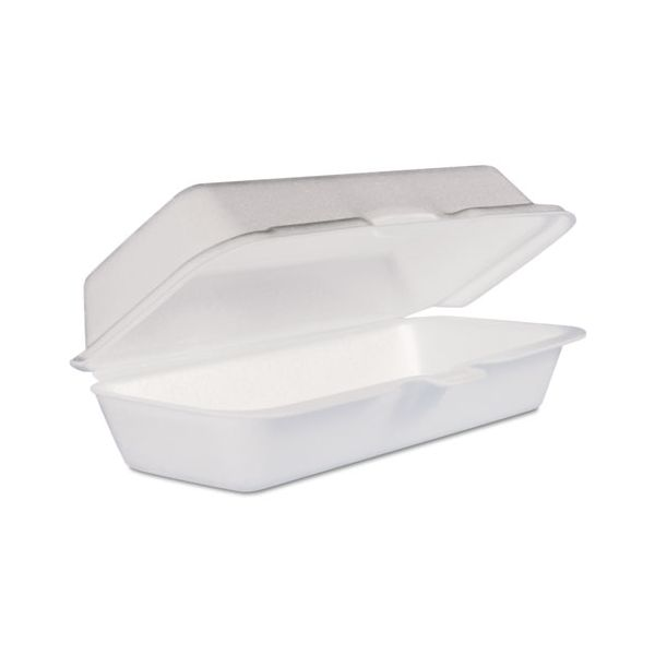 Dart Takeout Foam Clamshell Hot Dog Containers