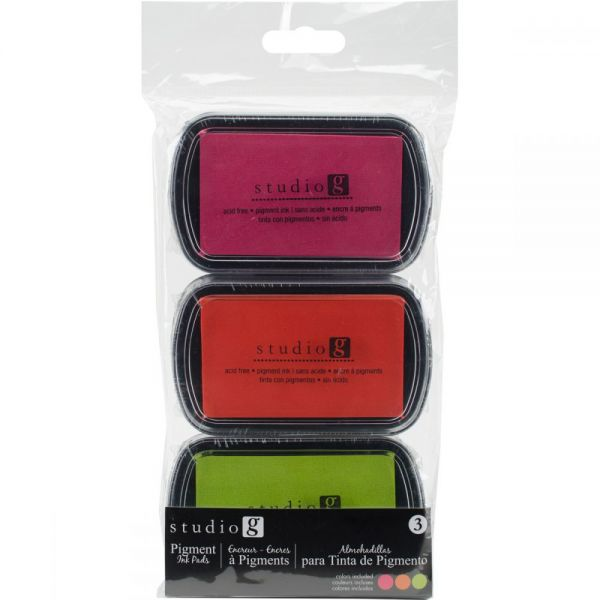 Hampton Art Pigment Ink Pads 3/Pkg