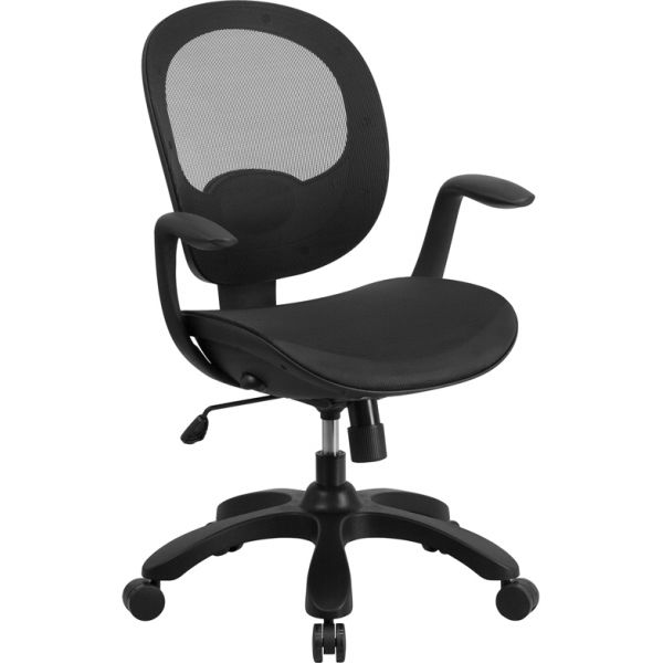 Flash Furniture Mid-Back Mesh Task Chair with Seat Slider and Ratchet Back