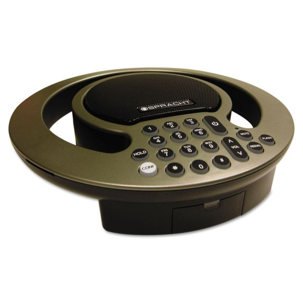 Spracht Aura SoHo Conference Phone, 3 Built-In Microphones, Silver/Black