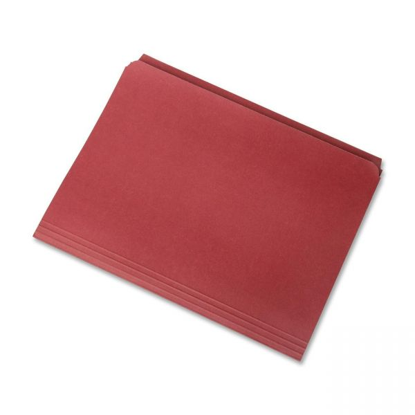 SKILCRAFT Red Colored File Folders