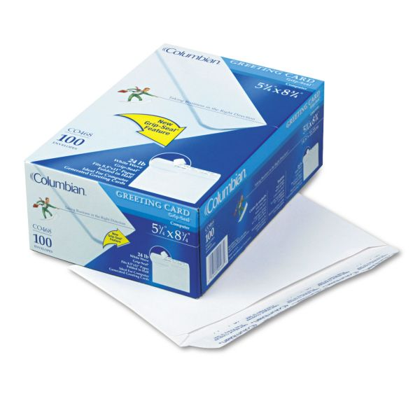 Columbian White Greeting Card Envelopes