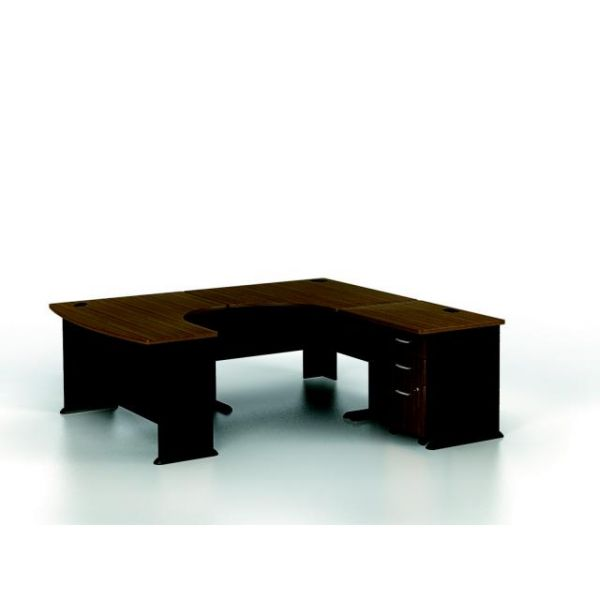 bbf Series A Professional Configuration - Sienna Walnut finish by Bush Furniture