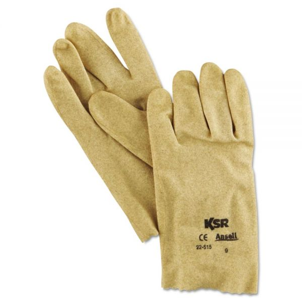 AnsellPro KSR Multi-Purpose Vinyl Gloves, Tan, Size 9, 1 Dozen Pair