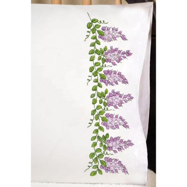 Stamped Pillowcase Pair