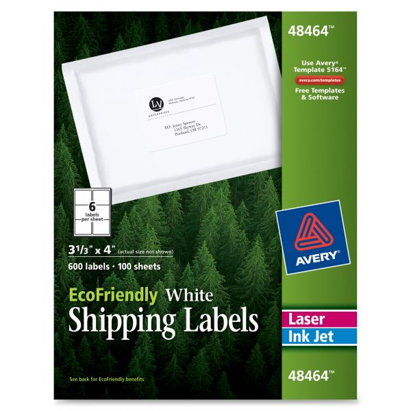 Avery 48464 EcoFriendly Shipping Labels