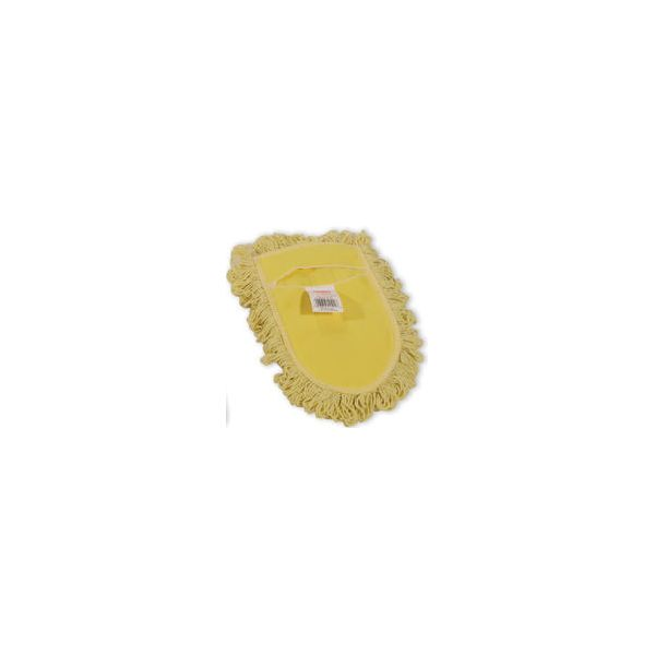 Rubbermaid Commercial Trapper Wedge Dust Mop Head, Yellow, Looped-End, Cotton