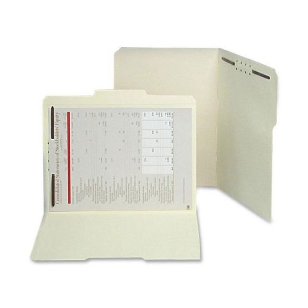 SJ Paper Paper-Cut/Water Resistant File Folders With Fasteners