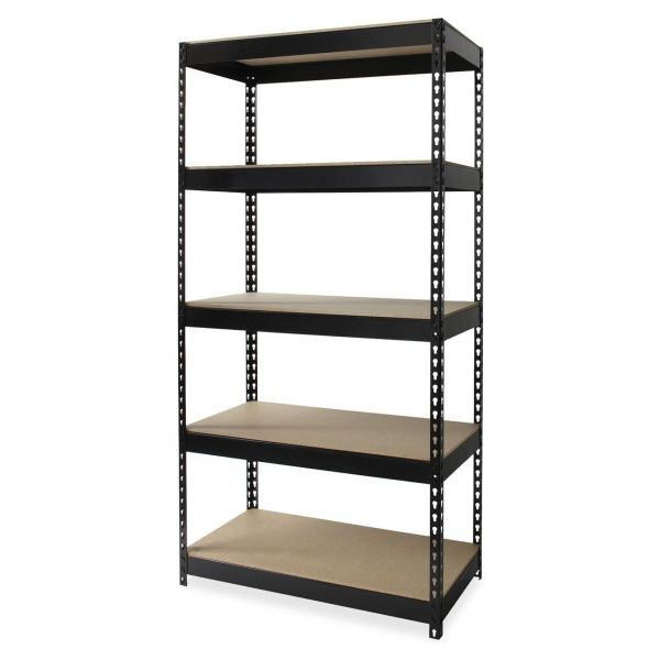 Lorell Riveted Steel Shelving Unit