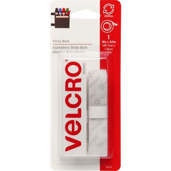 "VELCRO(R) Brand STICKY BACK Tape 3/4""X18"""