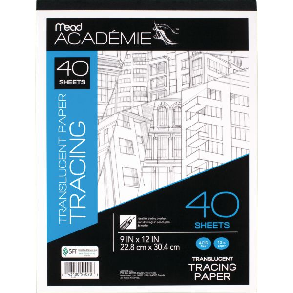 Mead Academie Translucent Tracing Paper Pad