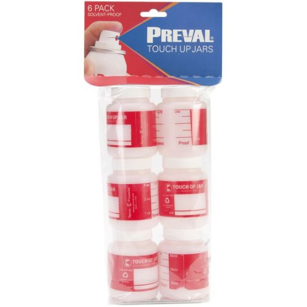 Preval Plastic Bottles 6/Pkg