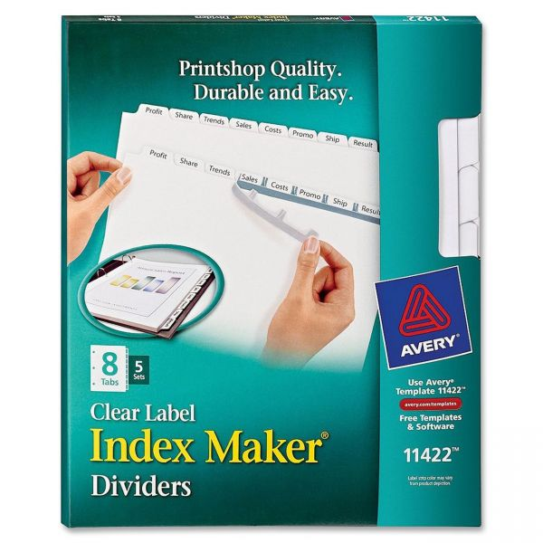 Avery Index Maker Copier Clear Label Dividers