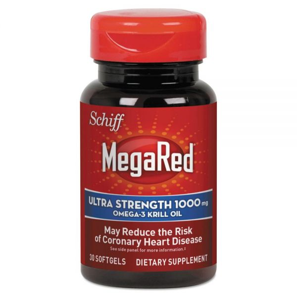MegaRed Extra Strength Omega-3 Krill Oil Softgel, 30 Count