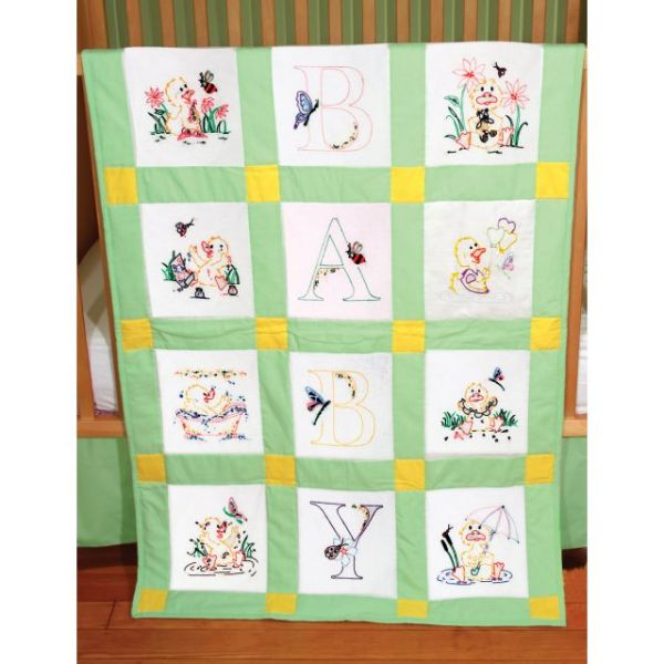 "Stamped Baby Quilt Blocks 9""X9"" 12/Pkg"