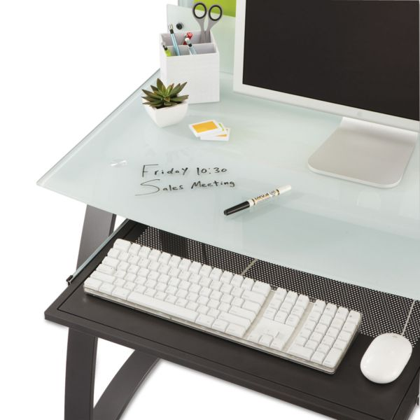 Safco Xpressions Keyboard Tray, Steel, 23-1/2w x 15-1/4d, Black