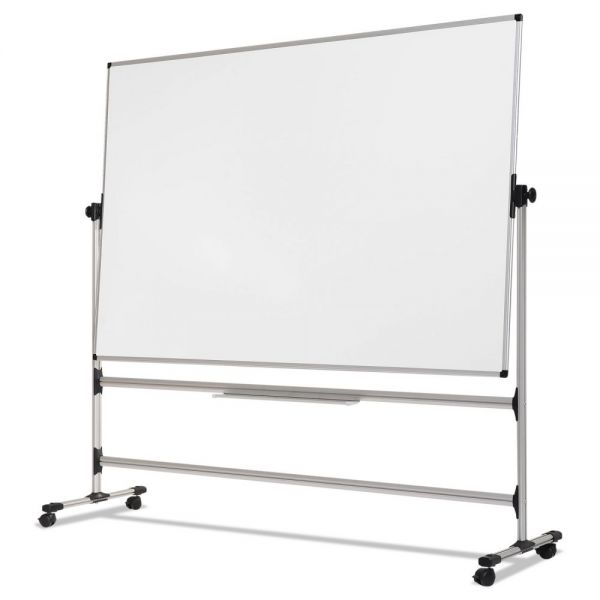 MasterVision Earth Silver Easy Clean Revolver Dry Erase Board, 36 x 48, White, Steel Frame
