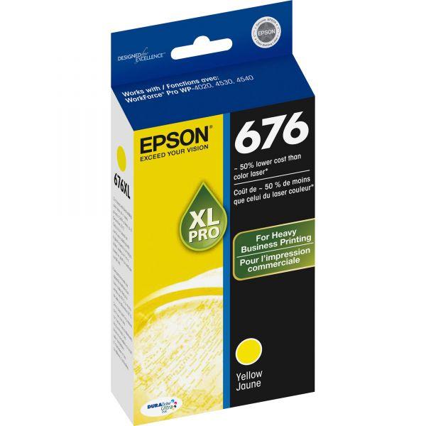 Epson 676 XL Yellow High Yield Ink Cartridge (T676XL420)