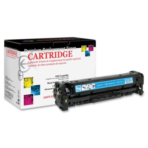 West Point Products Remanufactured HP CC531A CyanToner Cartridge