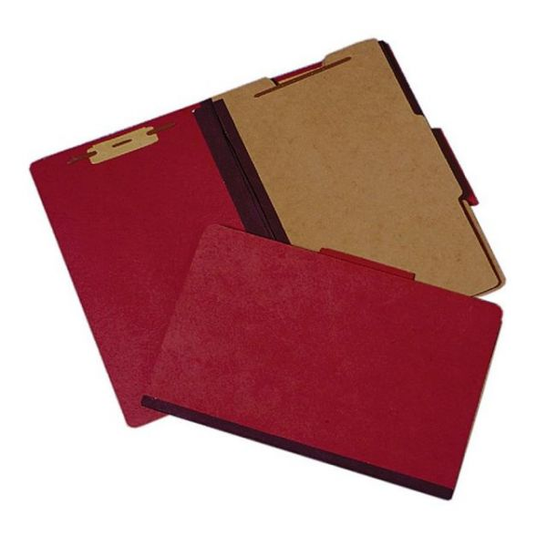 SKILCRAFT Heavy-Duty Earth Red Classification Folders