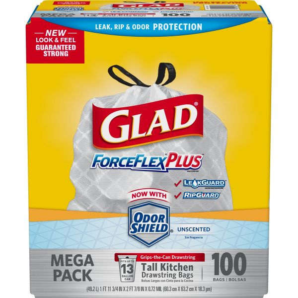 Glad ForceFlex 13 Gallon Trash Bags