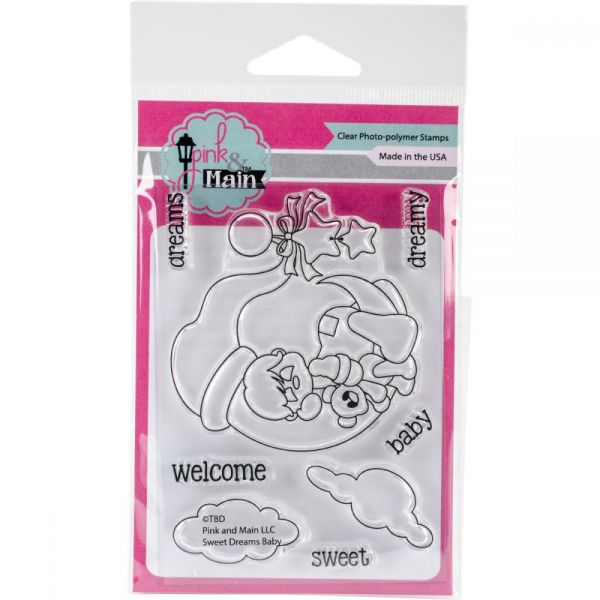 """Pink & Main Clear Stamps 3""""X4"""""""