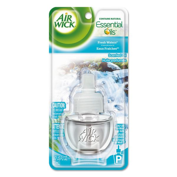 Air Wick Scented Oil Refill, Fresh Waters, 0.67oz, Clear