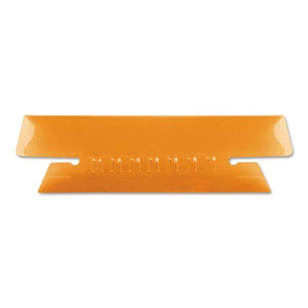 Pendaflex Hanging File Folder Tabs, 1/3 Tab, 3 1/2 Inch, Orange Tab/White Insert, 25/Pack