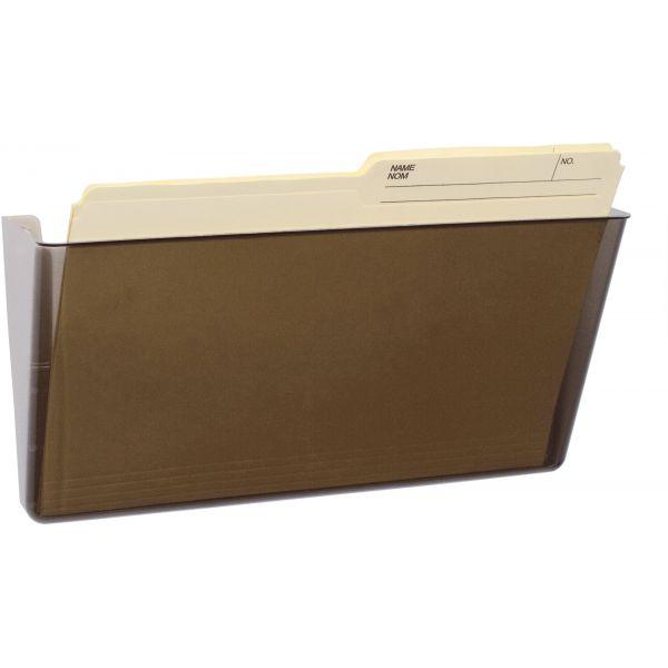 Storex Wall File, Letter, 13 x 7, Single Pocket, Smoke