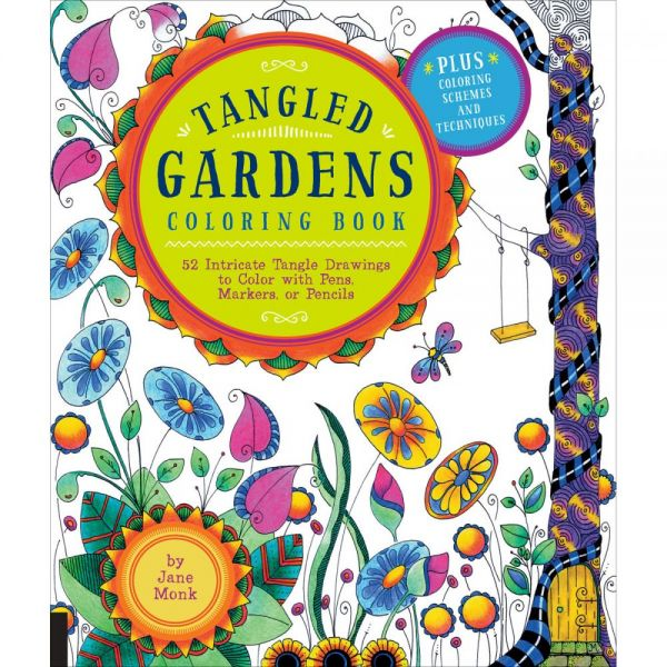 Rockport Books: Tangled Gardens Coloring Book