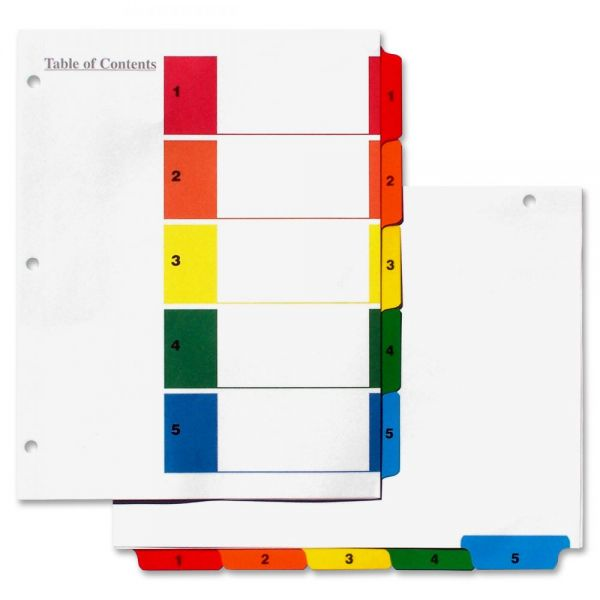Simon Numbered Index Tab Dividers