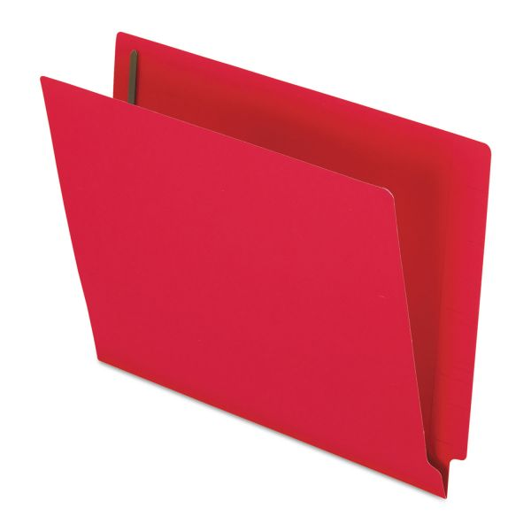 Pendaflex Reinforced End Tab Expansion Folder, Two Fasteners, Letter, Red, 50/Box