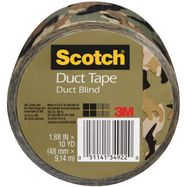 "Scotch Printed Duct Tape 1.88""X10yd"