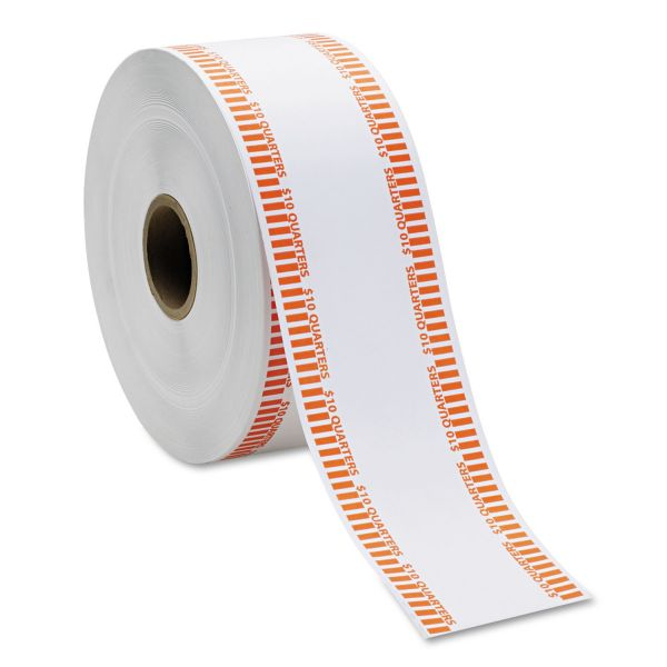MMF Industries Automatic Coin Flat Wrapper Rolls, Quarters, $10, 1,900 Wrappers per Roll