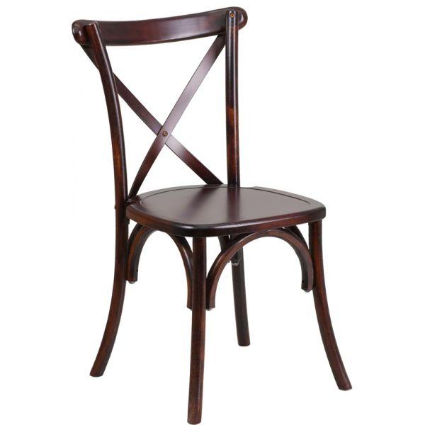 Flash Furniture HERCULES Series Fruitwood Cross Back Chair