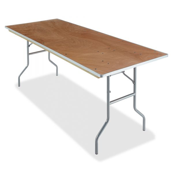 Iceberg Banquet Folding Table, Rectangular, 30w x 72d, Natural