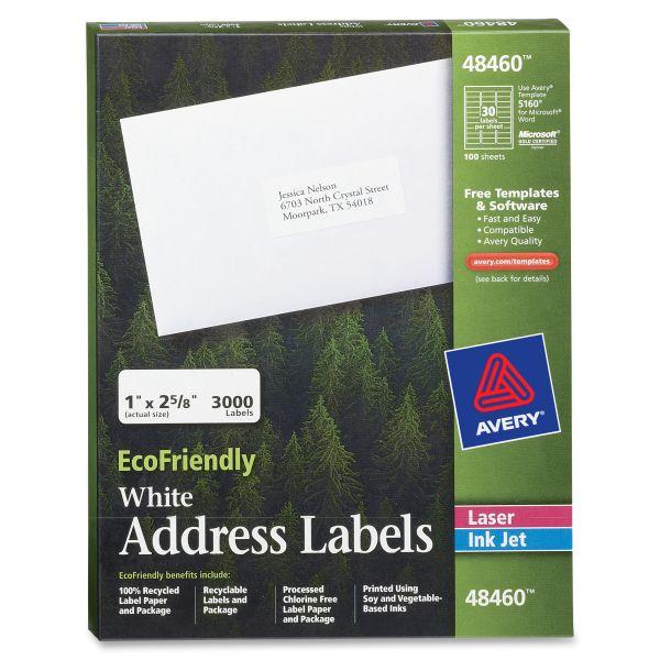 Avery 48460 EcoFriendly Address Labels