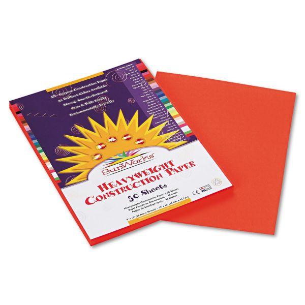 SunWorks Orange Construction Paper