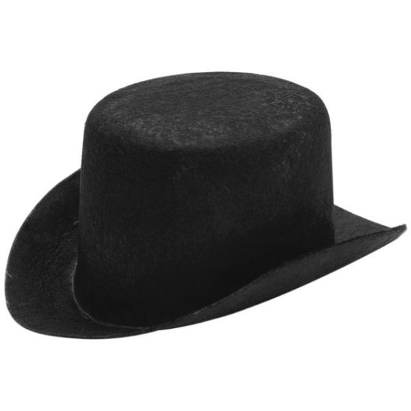 Stiffened Felt Top Hat 5.5""