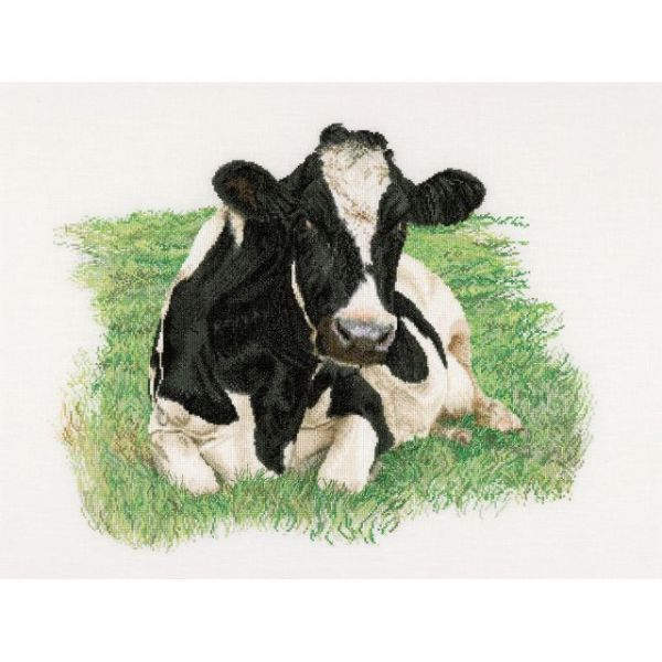 Cow On Aida Counted Cross Stitch Kit