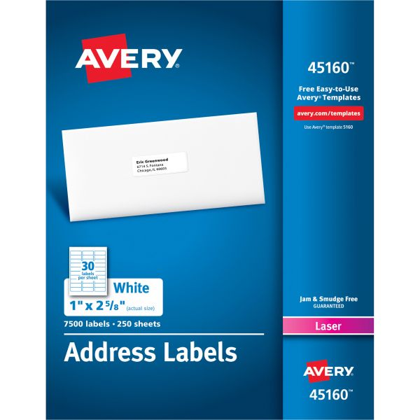 Avery 45160 Address Labels