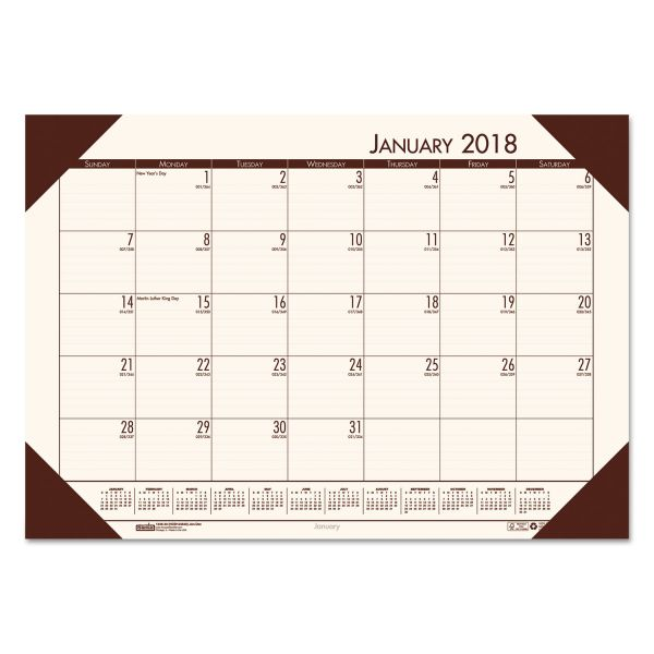 House of Doolittle Compact Nonrefillable Monthly Desk Pad Calendar