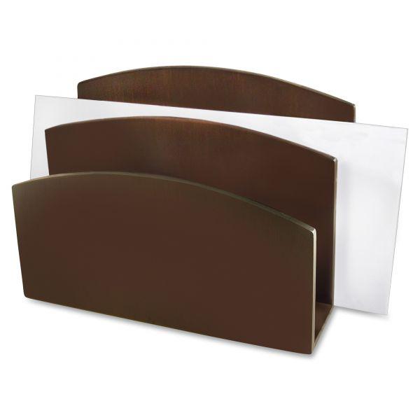 Artistic Eco-Friendly Bamboo Curves Letter Sorter, 7 1/8 x 3 1/4 x 5 1/8, Espresso